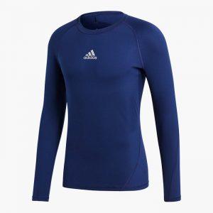 ביגוד אדידס לגברים Adidas ALPHASKIN - כחול כהה