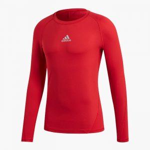 ביגוד אדידס לגברים Adidas ALPHASKIN - אדום