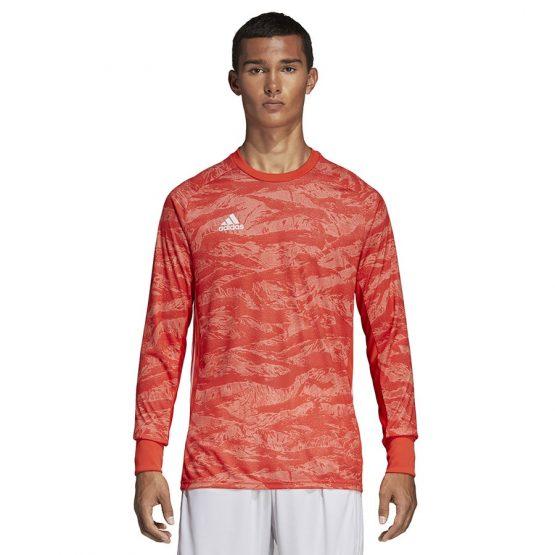 ביגוד אדידס לגברים Adidas Adipro 19 GK - אדום