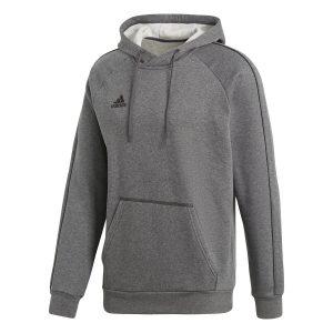 ביגוד אדידס לגברים Adidas CORE 18 HOODY - אפור