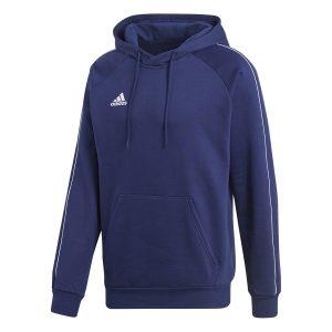 ביגוד אדידס לגברים Adidas CORE 18 HOODY - כחול כהה