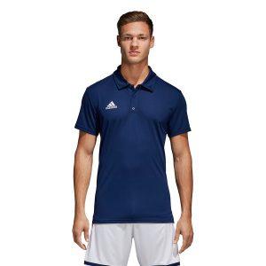 ביגוד אדידס לגברים Adidas CORE 18 Polo - כחול כהה