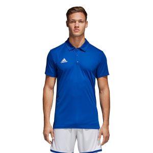 ביגוד אדידס לגברים Adidas CORE 18 Polo - כחול