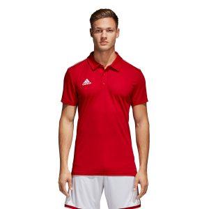 ביגוד אדידס לגברים Adidas CORE 18 Polo - אדום