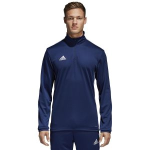 ביגוד אדידס לגברים Adidas Core 18 TR Top - כחול כהה