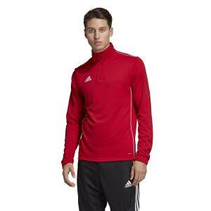 ביגוד אדידס לגברים Adidas Core 18 TR Top - אדום