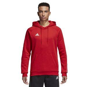 ביגוד אדידס לגברים Adidas CORE 18 Y Hoody - אדום