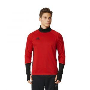 ביגוד אדידס לגברים Adidas Condivo 16 TRG Top - אדום