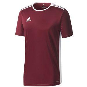 חולצת אימון אדידס לגברים Adidas Entrada 18 JSY - אדום יין