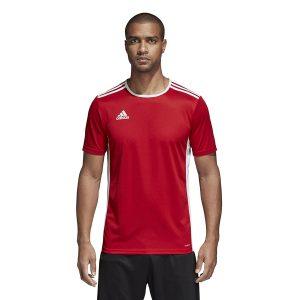 חולצת אימון אדידס לגברים Adidas Entrada 18 JSY - אדום