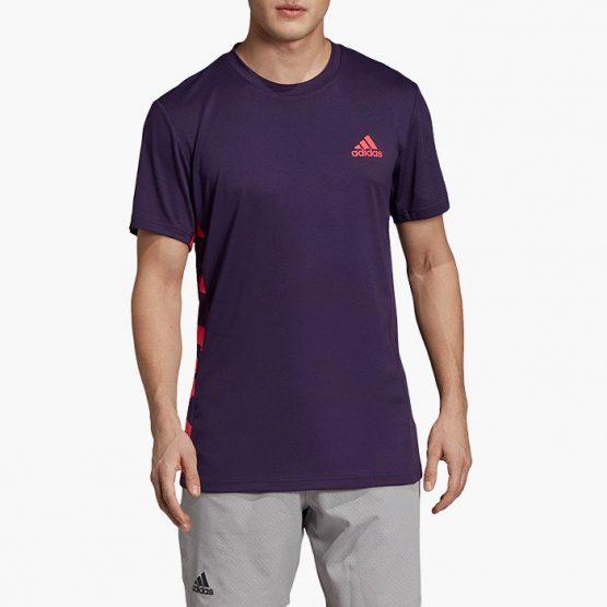 ביגוד אדידס לגברים Adidas Escouade Tee - סגול