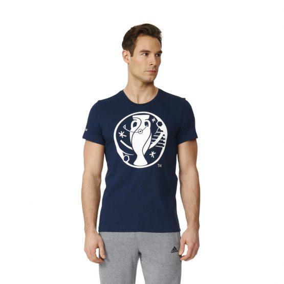 ביגוד אדידס לגברים Adidas Euro Logo - כחול כהה