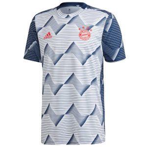 ביגוד קבוצות אדידס לגברים Adidas FC Bayern Home Preshi - לבן/ כחול