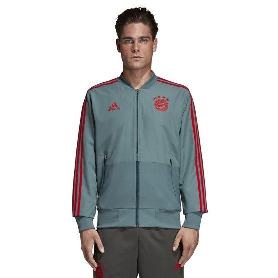 ביגוד קבוצות אדידס לגברים Adidas FC Bayern PRE - אפור