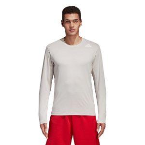 ביגוד אדידס לגברים Adidas Freelift Pri LS - לבן