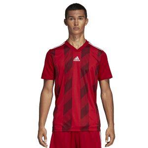 ביגוד אדידס לגברים Adidas Striped 19 JSY  - אדום