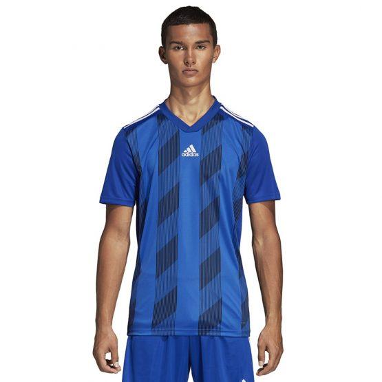 ביגוד אדידס לגברים Adidas Striped 19 JSY  - כחול