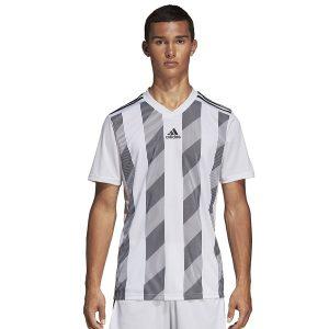 ביגוד אדידס לגברים Adidas Striped 19 JSY  - לבן
