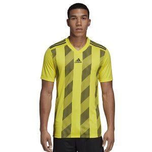 ביגוד אדידס לגברים Adidas Striped 19 JSY  - צהוב