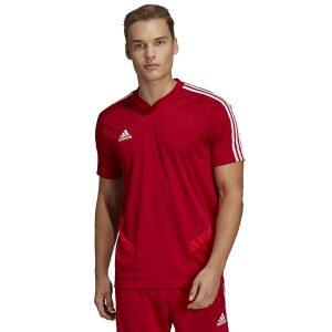 ביגוד אדידס לגברים Adidas TIRO 19  - אדום יין