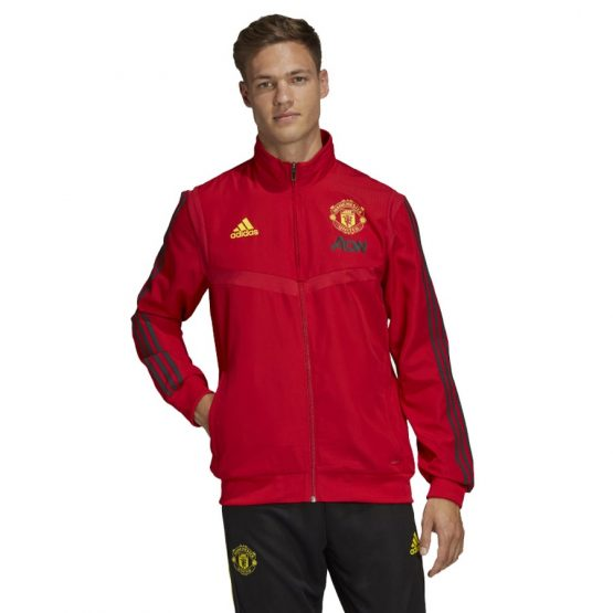 ביגוד קבוצות אדידס לגברים Adidas Manchester FC PRE - אדום