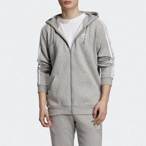 ביגוד Adidas Originals לגברים Adidas Originals 3-Stripes Hoodie - אפור