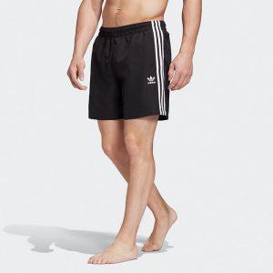 ביגוד Adidas Originals לגברים Adidas Originals 3 Stripes Swim - שחור