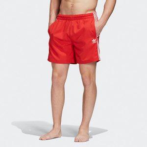 ביגוד Adidas Originals לגברים Adidas Originals 3 Stripes Swim - אדום