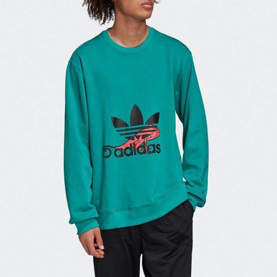 ביגוד Adidas Originals לגברים Adidas Originals PT3 Sweatshirt - ירוק