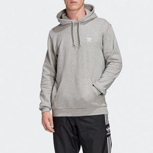 ביגוד Adidas Originals לגברים Adidas Originals Trefoil Essential Hoody - אפור