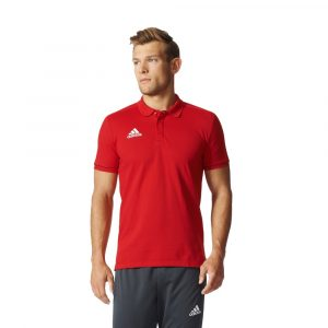 ביגוד אדידס לגברים Adidas Polo  Trio 17 Cotton - אדום
