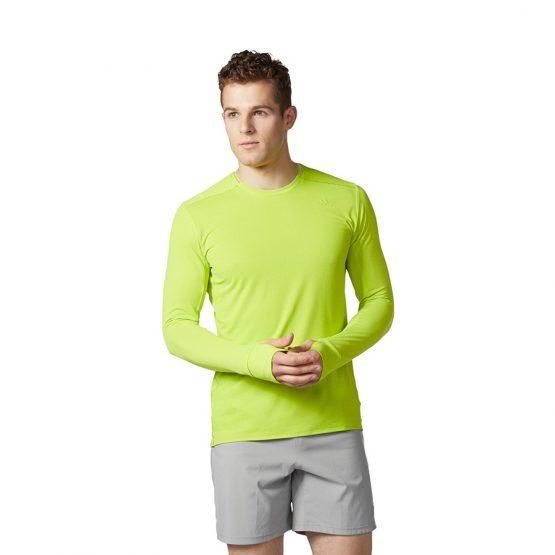 ביגוד אדידס לגברים Adidas SN LS Tee - צהוב