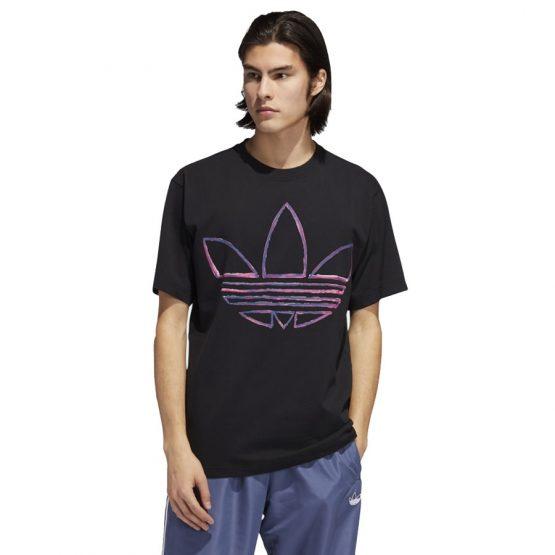ביגוד אדידס לגברים Adidas T-Shirt  Watercolor  - שחור