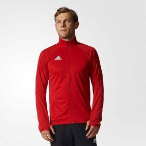 ביגוד אדידס לגברים Adidas TIRO 17 TRG JKT - אדום