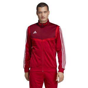 ביגוד אדידס לגברים Adidas TIRO 19 PES JKT - אדום