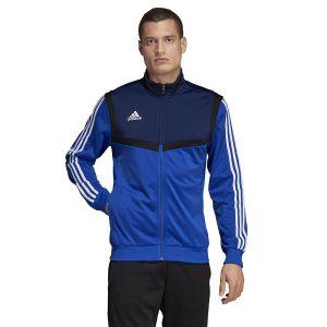ביגוד אדידס לגברים Adidas TIRO 19 PES JKT - כחול/לבן
