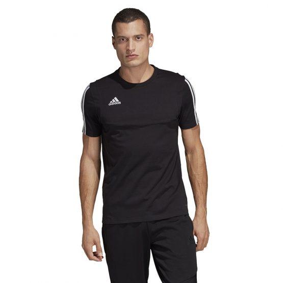 ביגוד אדידס לגברים Adidas TIRO 19 Tee - שחור/לבן