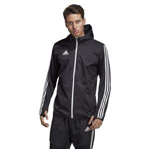 ביגוד אדידס לגברים Adidas TIRO 19 Warm JKT - שחור/לבן