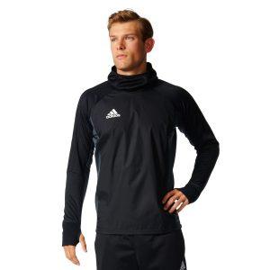 ביגוד אדידס לגברים Adidas TIRO17 Warm Top - שחור
