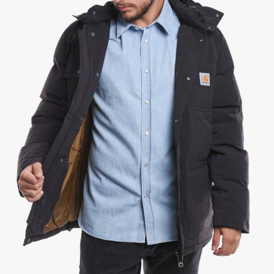 ביגוד קארהארט לגברים Carhartt WIP Alpine Coat - שחור