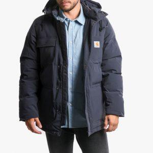 ביגוד קארהארט לגברים Carhartt WIP Alpine Coat - כחול כהה