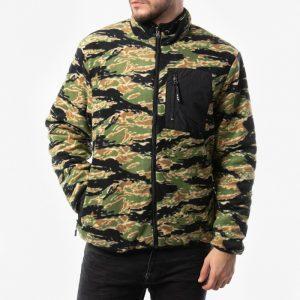 ביגוד HUF לגברים HUF Milton Reversible Polar Fleece Jacket - צבעוני