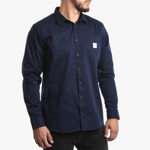 ביגוד מאקיה לגברים Makia Square Pocket Shirt - כחול כהה
