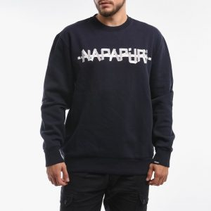 סווטשירט נפפירי לגברים Napapijri Sweatshirt Bolt - כחול כהה