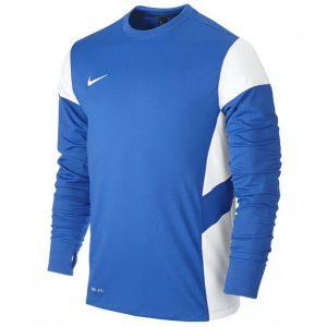 ביגוד נייק לגברים Nike Bluza  LS Academy 14 Midlayer  - כחול/לבן