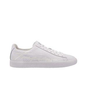 נעליים פומה לגברים PUMA CLYDE PERFORATED TRAPSTA  WHIT - לבן