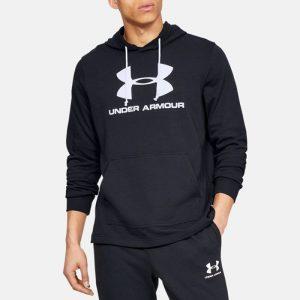 ביגוד אנדר ארמור לגברים Under Armour Sportstyle Terry Logo - שחור