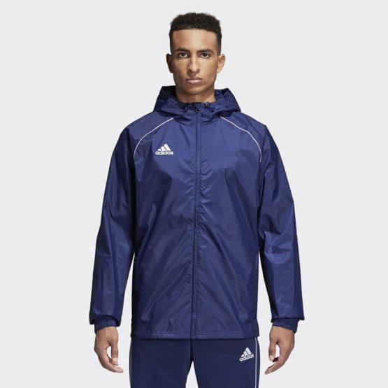 ביגוד אדידס לגברים Adidas Core 18 RN JKT - כחול כהה