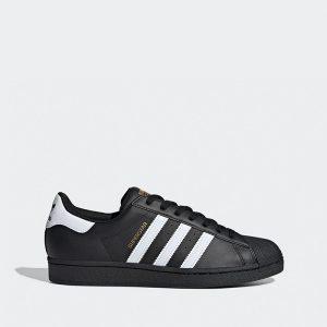 נעלי סניקרס אדידס לגברים Adidas Originals Superstar - שחור/לבן