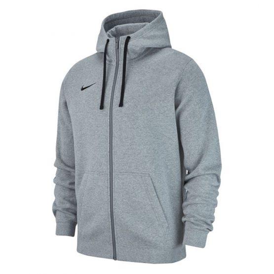 סווטשירט נייק לגברים Nike FZ FLC TM Club 19 - אפור בהיר